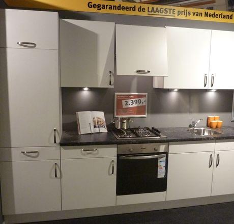 Showroomkeuken Wit mat Rotterdam