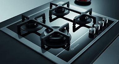 Gas op glas kookplaat