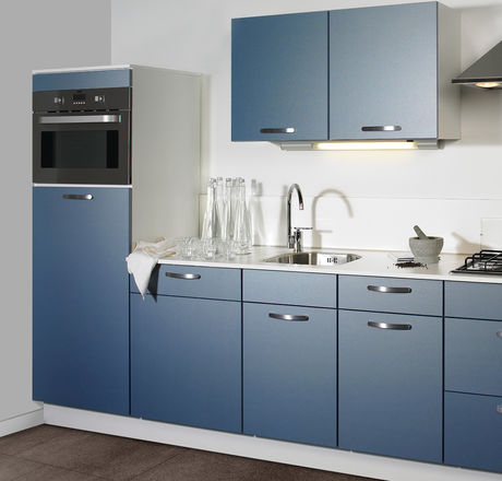 Luxe blauwe keuken