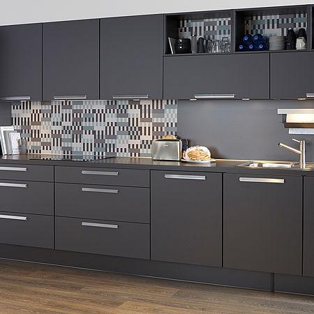 Moderne donkere keuken