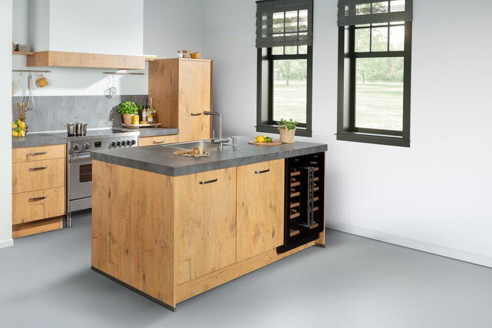 Kleine keuken kookeiland