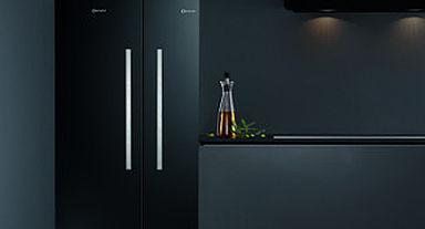 Bauknecht zwarte amerikaanse koelkast