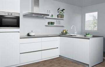 witte greeploze keuken