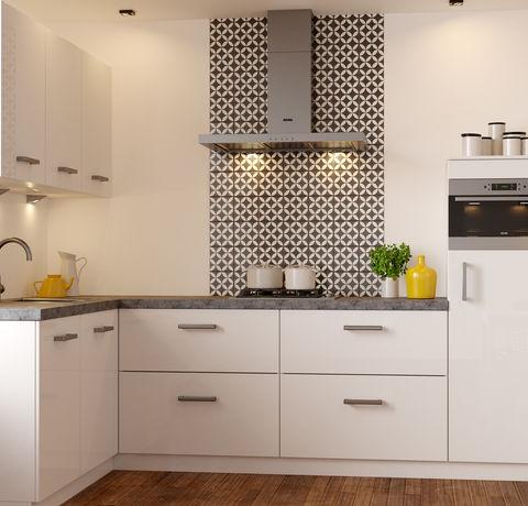 Tijdloze keuken met grijs aanrechtblad