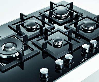 Siemens gas op glas kookplaat