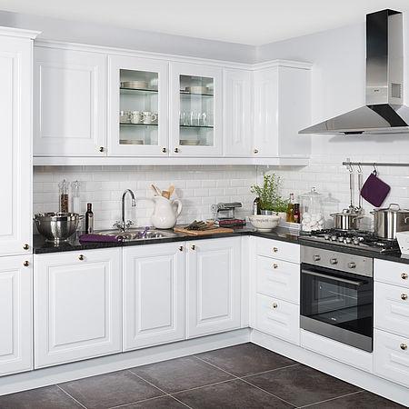 Landelijke keuken met granieten aanrechtblad