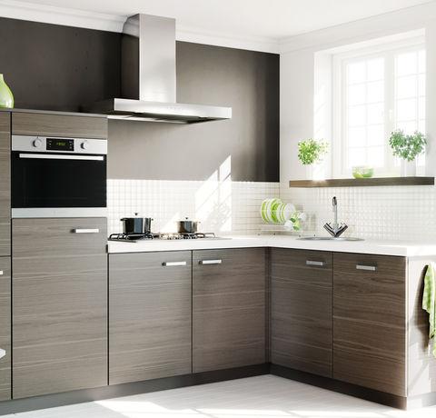 Strakke grijs eiken keuken