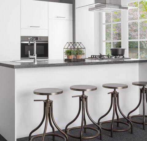 witte parelstructuur keuken