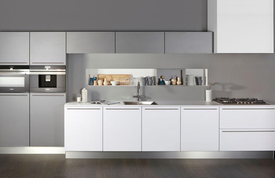 Recht witte design keuken salira bij keukenconcurrent
