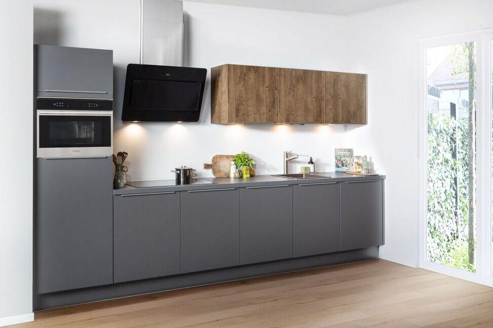 Rechte keuken grijs