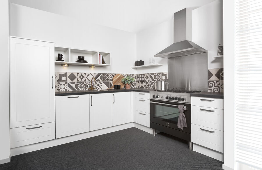 wit zijdematte keuken