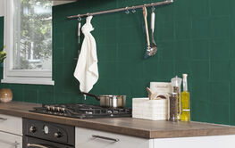 Groene keukentegels